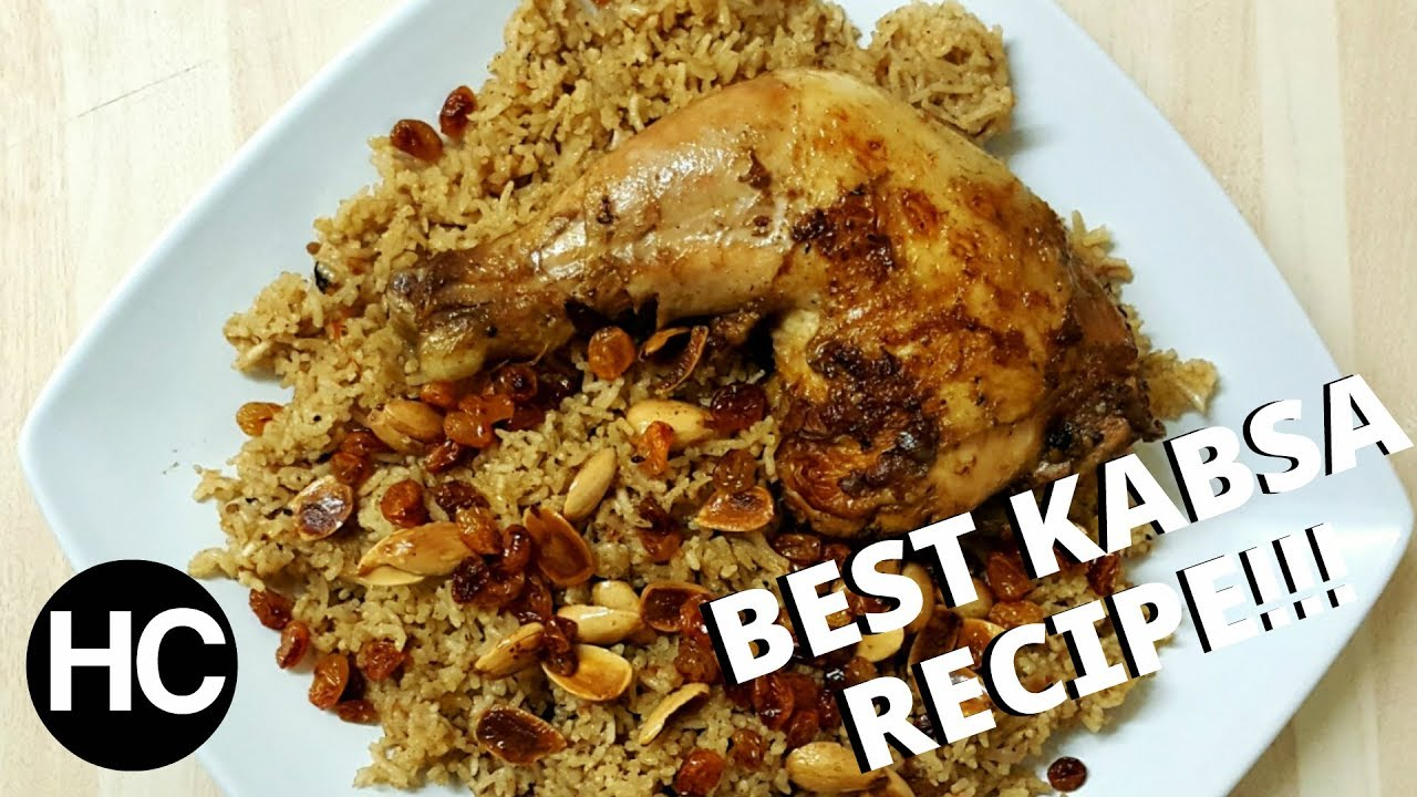 Best Easy Saudi Kabsa Recipe Arabian Rice With Chicken طريقة عمل الكبسه السعودى Halal Chef Youtube