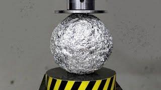 Can You Crush An Aluminium Ball With A Hydraulic Press?