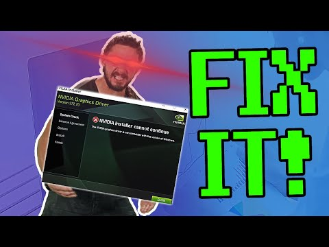 How To Fix Nvidia Driver : Windows Not Compatible & Installation Failed (On Any Windows)