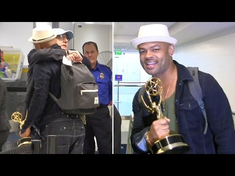 Emmy Winners Anthony Hemingway And Jeffrey Tambor Share A Big Hug In TSA Line At LAX