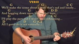 Act Naturally (The Beatles) Guitar Cover Lesson with Chords/Lyrics - Munson