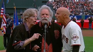 NLCS Gm3: Weir, Lesh, Flannery sing national anthem