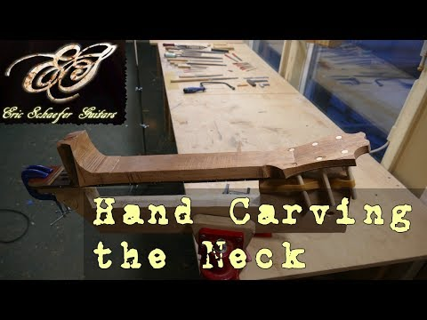 Hand Carving the Neck