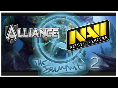 NaVi vs Alliance The Summit 2 Dota 2 RUS