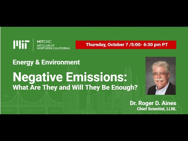 Negative Emissions: What Are They and Will They Be Enough?