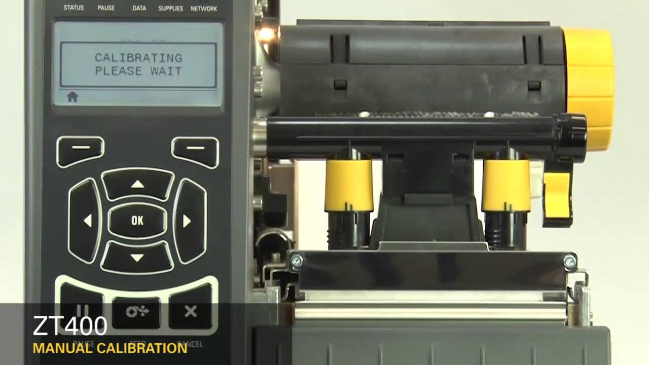 zebra zt410 industrial printer manual calibration youtube rh youtube com Zebra S4M Printer Help Zebra S4M Maintenance Manual