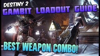 BEST WEAPONS TO USE IN GAMBIT! Best Loadout to Win Gambit - Destiny 2 Forsaken Tips and Tricks