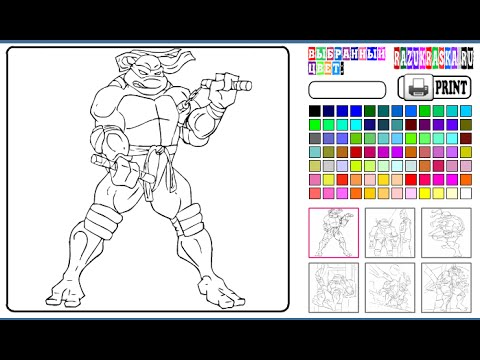 Ninja Turtles Coloring Pages For Kids Ninja Turtles