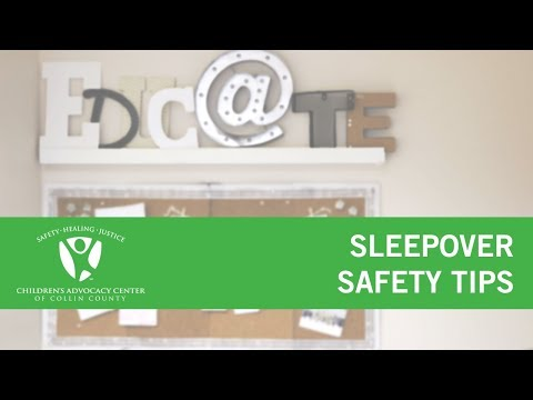 Sleepover Safety Tips
