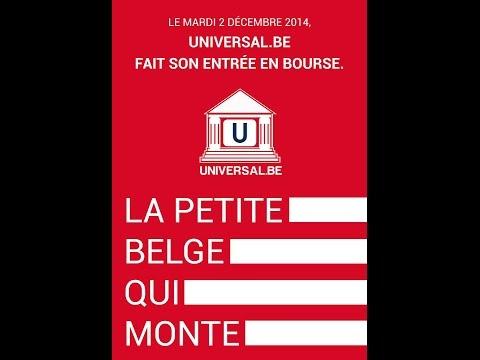 Introduction d'Universal.be en bourse