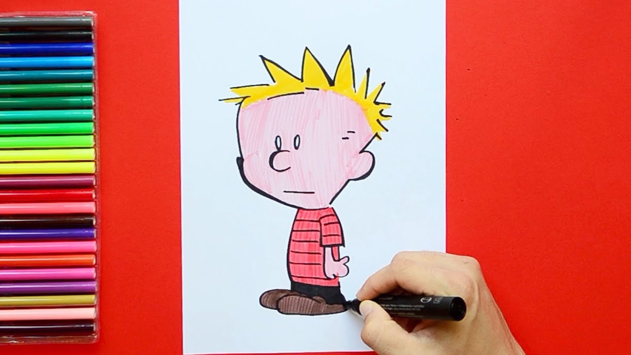 how to draw calvin and hobbes