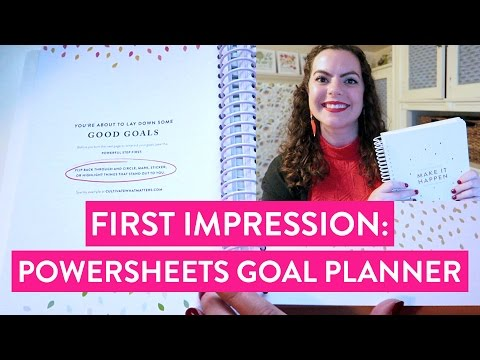 FIRST IMPRESSION: PowerSheets Goal Planner by Cultivate What Matters