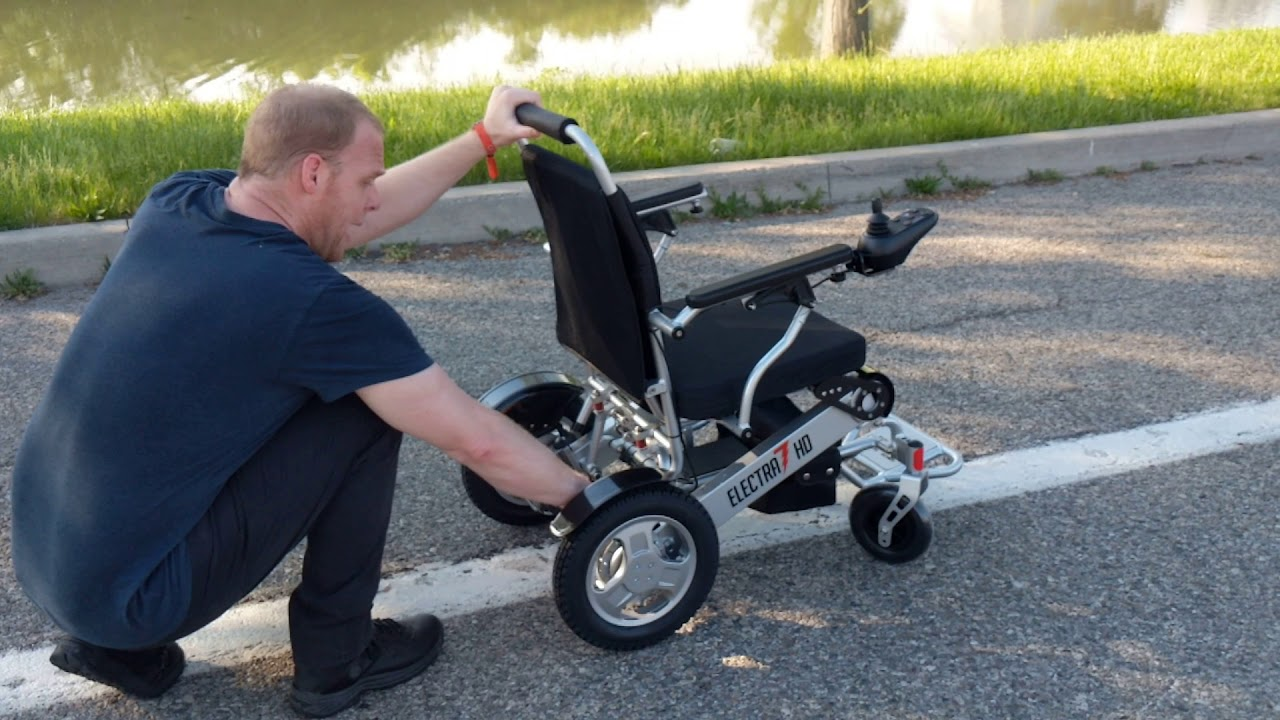 Electra7 Wide Lightweight Folding Power Wheelchair