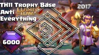 TH11 Legend League Trophy Base | Legend League top Base 2017 | Clash Of Clans | Legend League Replay