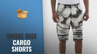Smoke Rise 2018 Mejores Ventas: Smoke Rise Men's Moto Biker Denim Shorts With Zippers