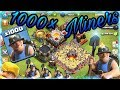 CLASH OF CLANS 🔥 1000 MINERS RAID🔥😱 MUST WATCH🔥