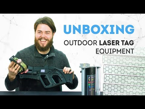 Unboxing Outdoor Laser Tag Equipment By LASERTAG.NET