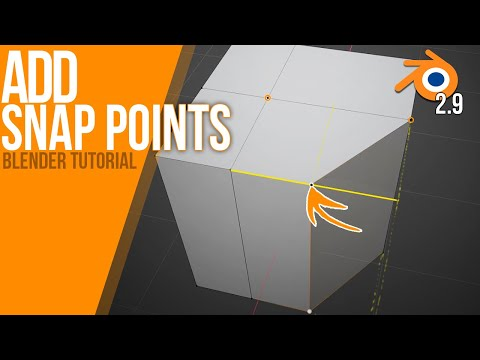 How to add Snap Points in Edge Slide Mode | Blender 2.9 ALPHA | Tutorial