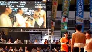 平成27年4月26日(日)、幕張メッセで行われた大相撲超会議場所(幕張メッ...