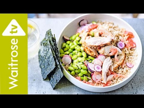 Miso Chicken And Grapefruit Rice Bowl | Waitrose