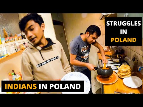 STRUGGLES OF INDIAN STUDENT ABROAD IN POLAND| COOKING INDIAN FOOD| INDIANS LIFESTYLE IN POLAND 🇵🇱