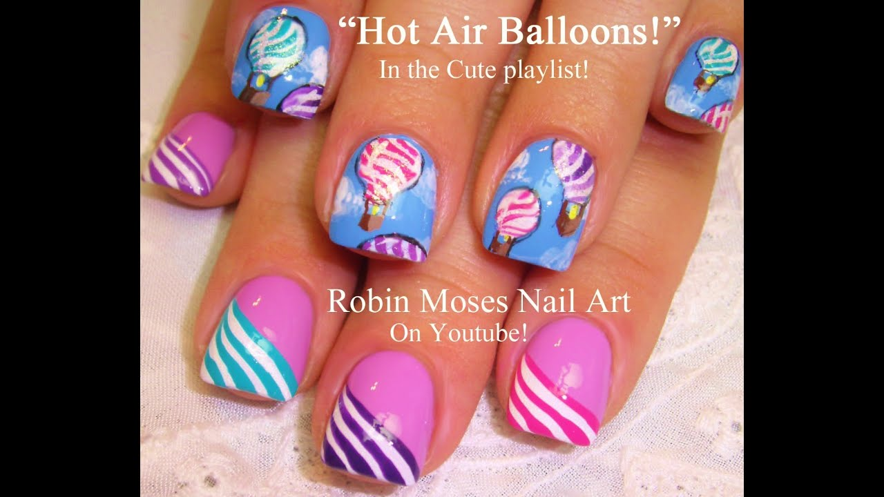 Easy hot air balloon festival nail art design tutorial youtube easy hot air balloon festival nail art design tutorial prinsesfo Choice Image
