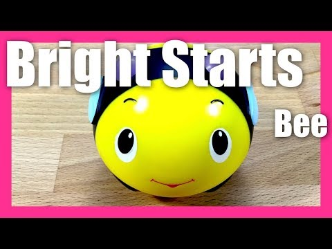 Bright Starts Giggables Giggle Ball Bee Toy Music Sound Laugh Crawl Toys
