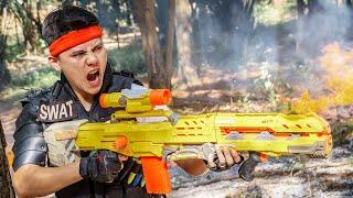 LTT Game Nerf War : Warriors SEAL X Nerf Guns Fight Braum Crazy Cruel Anonymous Knight