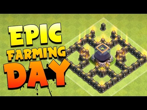 Clash Of Clans: I FARMED SOME DARK ELIXIR... THEN I MAXED SOME WALLS. BEST CLASH DAY EVER