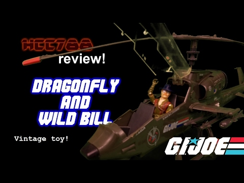 HCC788 - 1983 DRAGONFLY and WILD BILL - Vintage G.I. Joe toy review!