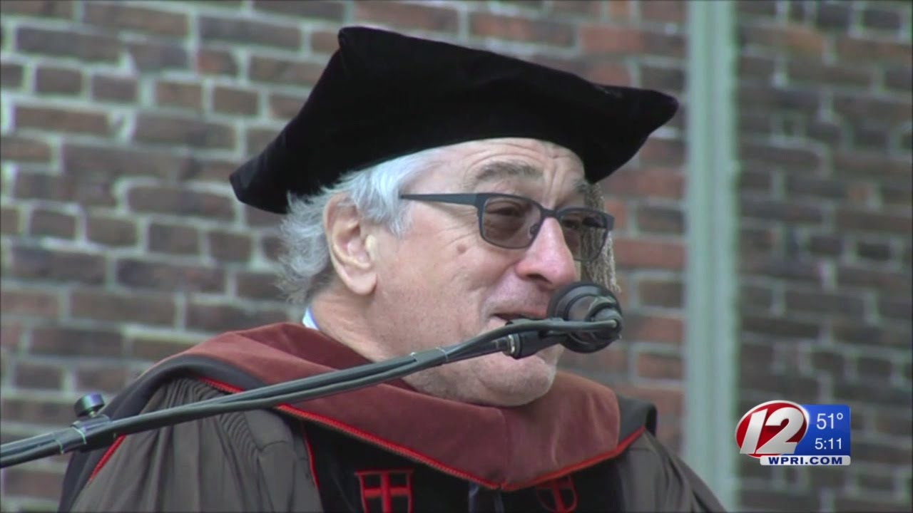 Robert DeNiro 2017 Brown Commencement Speaker - YouTube