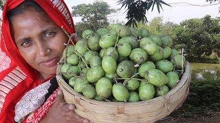 Farm Fresh Olive Pickle Recipe Sweet & Sour Olive Pickles Bengali Homemade Jolpai Achar Village Food