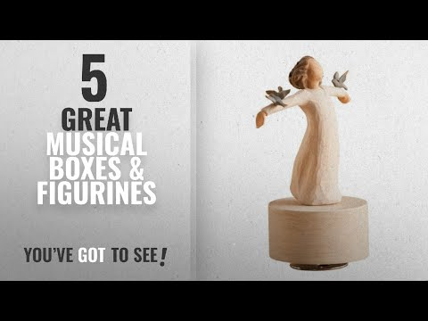 Top 10 Musical Boxes & Figurines [ Home Decor 2018 ]: Willow Tree Musical, Happiness
