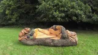 Chainsaw Dave: Time Lapse Chainsaw Dormouse Bench Carving