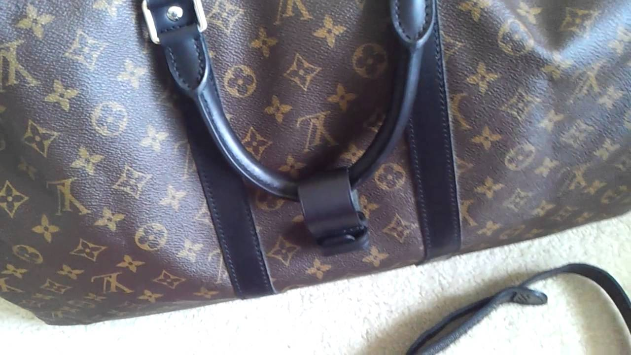21e36e225b54 Louis Vuitton MACASSAR KEEPALL 55 ultimate duffle bag for men! - YouTube