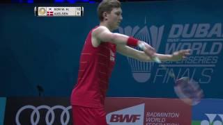 Dubai World Superseries Finals 2016 | Badminton Day 2 M4-MS | Son Wan Ho vs Viktor Axelsen