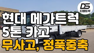 5톤메가트럭 정품중축 적재함길이5300