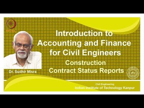 noc18-ce39 Lec 33- Construction Contract Status Reports