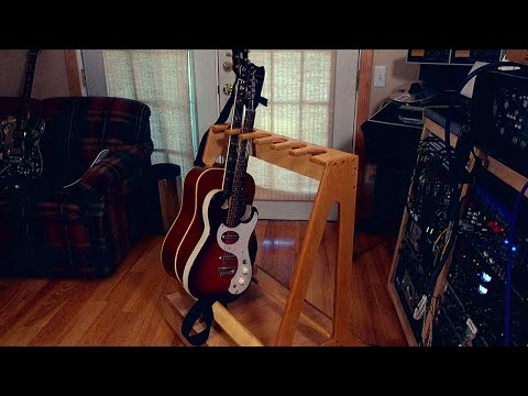 DIY plywood Multi Guitar Stand. a step by step do it you self workshop video