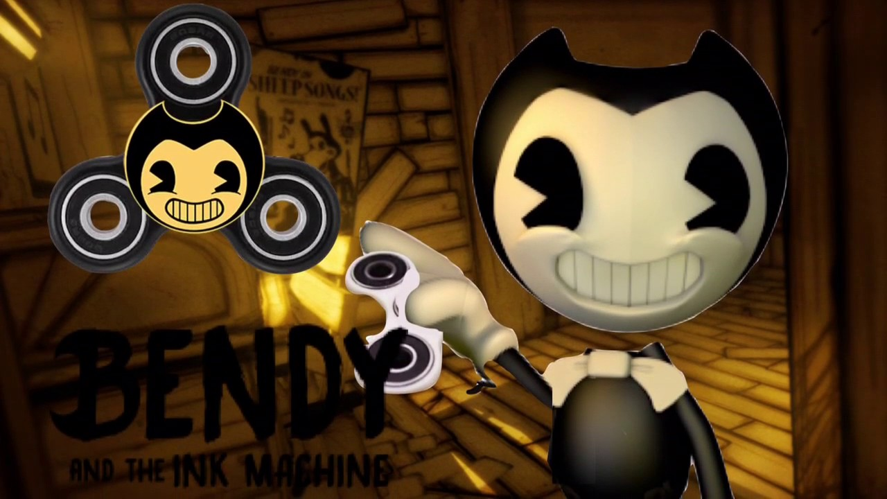 bendy and the ink machine fidget spinner