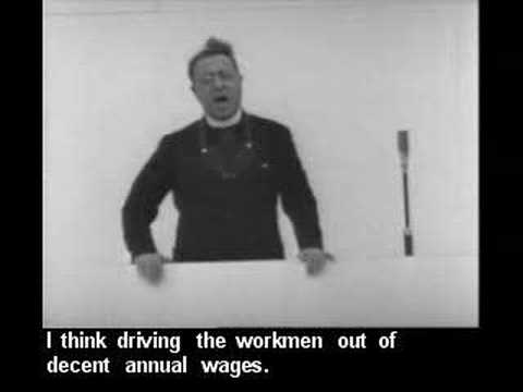 Father Coughlin speaks against the Federal Reserve