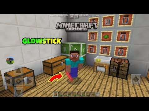 [MCPE]HOW TO MAKE GLOWSTICK !!! ( Education Edition/Chemistry Update )