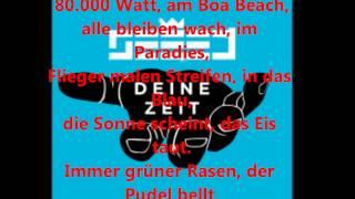 Deine Zeit ( LYRICS) - Seeed