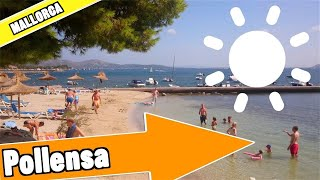 Puerto Pollensa Mallorca Spain:  Tour of beach and resort