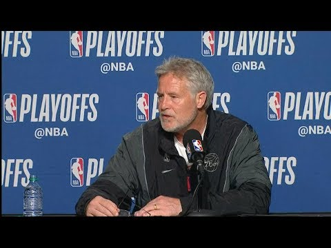Brett Brown Postgame Interview - Game 5 | 76ers vs Raptors | 2019 NBA Playoffs