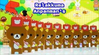 アンパンマンとリラックマ  ドミノで鼓笛隊 Rilakkuma Wonderland & Anpanman Friends