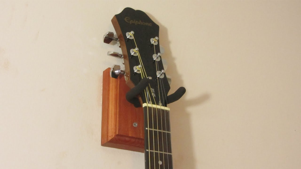 how to make a guitar wall mount youtube. Black Bedroom Furniture Sets. Home Design Ideas