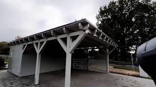Carport hobak Holz Bau Kehrer, Doppelcarport mit Geräteraum