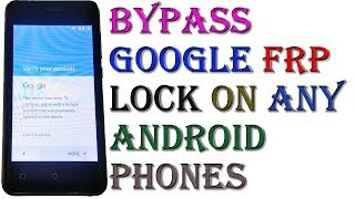 Easy Ways to Bypass Google Account Verification lock (FRP)  On Android