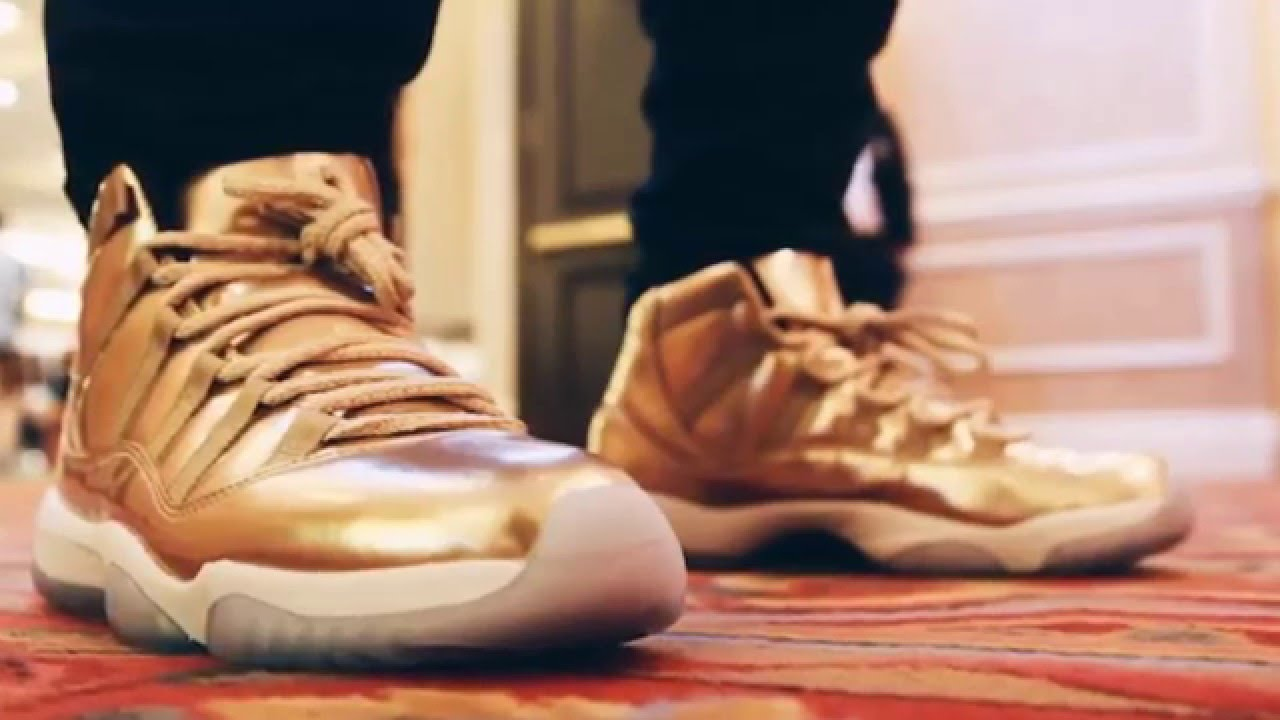 designer fashion d8f84 86a68 ... best air jordan 11 retro metallic gold ushers 11 gold youtube 91258  f7b0b